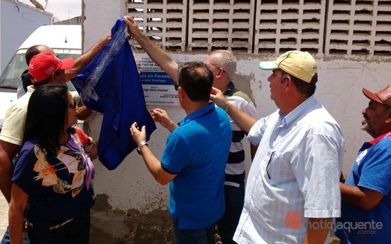 Prefeito Jorge Dantas inaugurou três obras em comunidades rurais