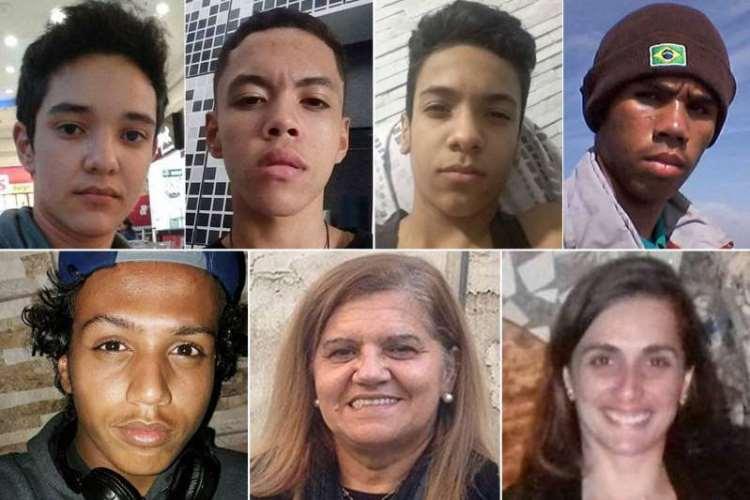 Samuel Melquiades, Caio Oliveira, Kaio Lucas, Claiton Antônio, Douglas Murilo, Marilena Umezu e Eliana Regina