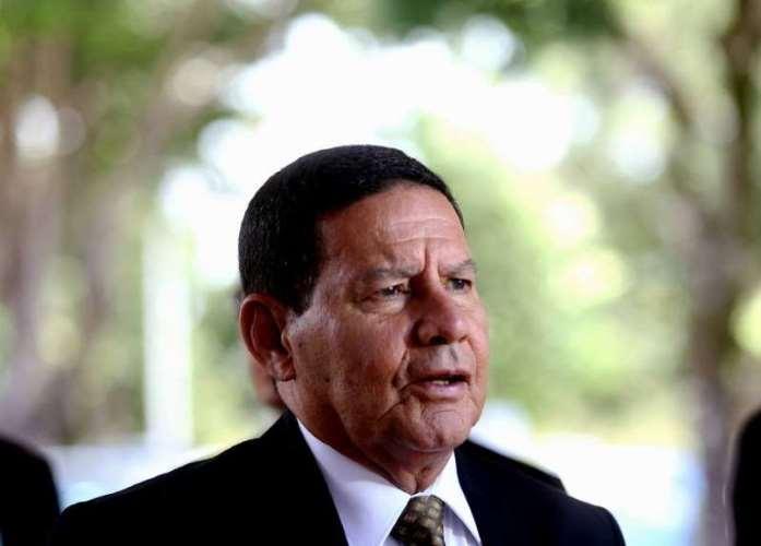 O vice-presidente da República, general Hamilton Mourão, em Brasília