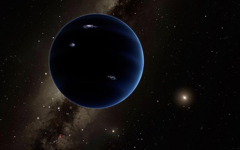 Concepção artística do Planeta Nove