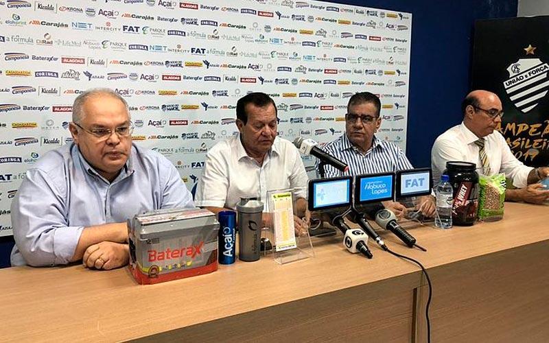 Diretoria do CSA se reuniu no CT do Mutange na última terça e anunciou venda do mando de campo da partida com o Flamengo
