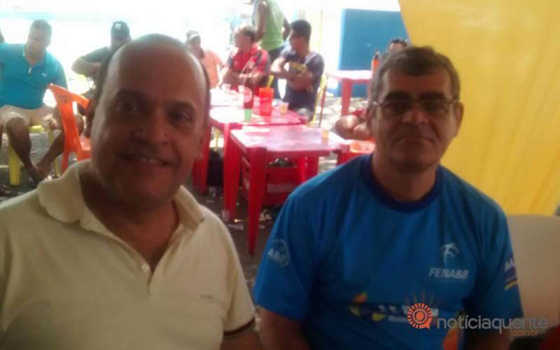 Jorge Luiz (Presidente da AABB de Pão de Açúcar) e Cleberson Pinheiro (Presidente do CESABB Alagoas)